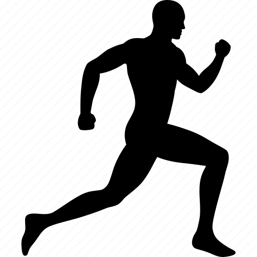 male, man, run, runner, running, sprint, sprinting icon