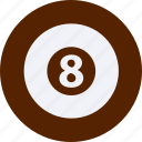 ball, eight, fitness, football, games, olympics, sports icon