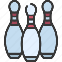 bowling, pins, sport, activity, sporting