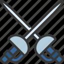 fencing, swords, sport, activity, weapons