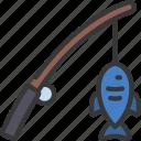fishing, sport, activity, fisherman, rod
