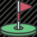 golf, flag, sport, activity, golfing