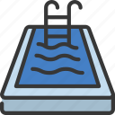 swimming, pool, sport, activity, ladder