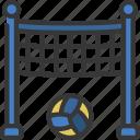 volleyball, net, sport, activity, sporting
