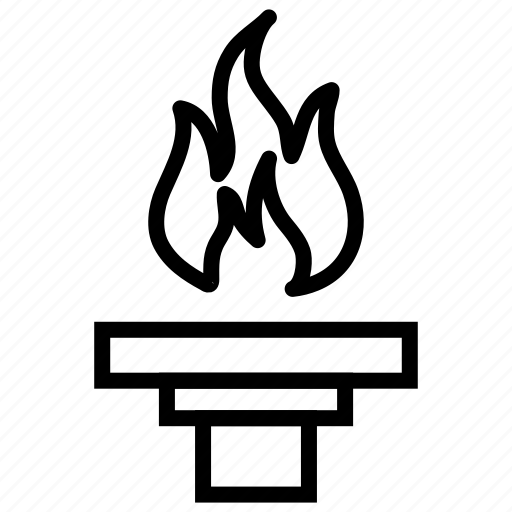 fire, flame, olympic flame, olympic torch, torch icon