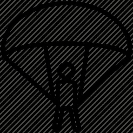 parachute, parachute sports, sports icon
