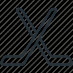 hockey, sports, sticks icon