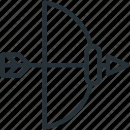 archery, arrow, bow, sports, weapons icon