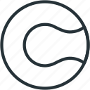 ball, equipment, sports, tennis icon