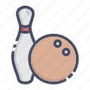 ball, bowling, fun, game, pin, play, tenpin icon