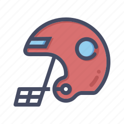 accessory, gear, head, helmet, protection, rugby, safety icon