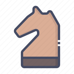 chess, game, horse, knight, piece, play, strategy icon