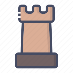 chess, game, indoor, piece, play, rook, strategy icon