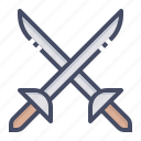 ammunition, combat, duel, fight, fighting, sword, weapon icon