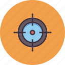 aim, bullseye, crosshair, goal, hit, shoot, target icon
