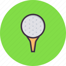 ball, game, golf, hit, pin, play, tee icon