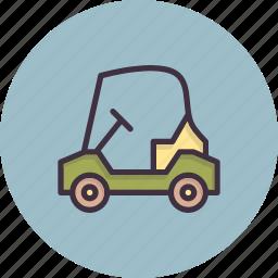car, cart, golf, sports, transport, travel, vehicle icon