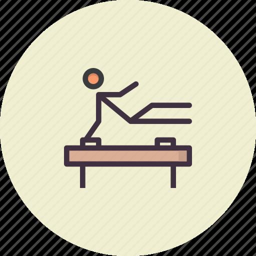 acrobatics, artistic, fitness, gym, gymnastics, olympics, training icon