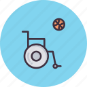 basketball, disabled, games, olympics, paralympic, paralympics, wheelchair icon