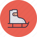 fun, ice skating, shoes, skate, skateboard, skating, winter games icon