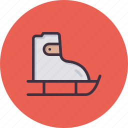 fun, ice skating, shoes, skate, skateboard, skating, winter games icon