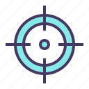 aim, crosshair, goal, hit, olympics, shoot, target icon