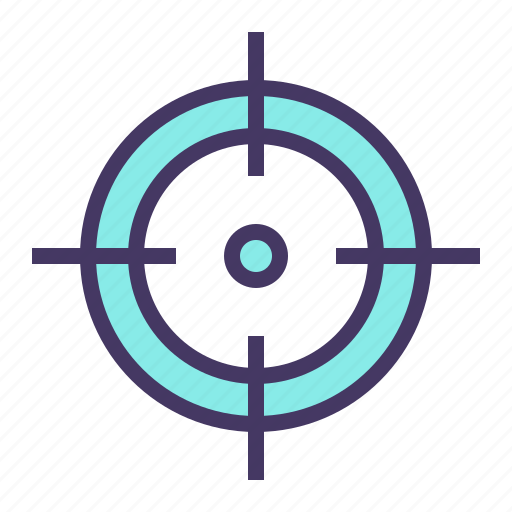 aim, crosshair, goal, hit, olympics, shoot, target icon