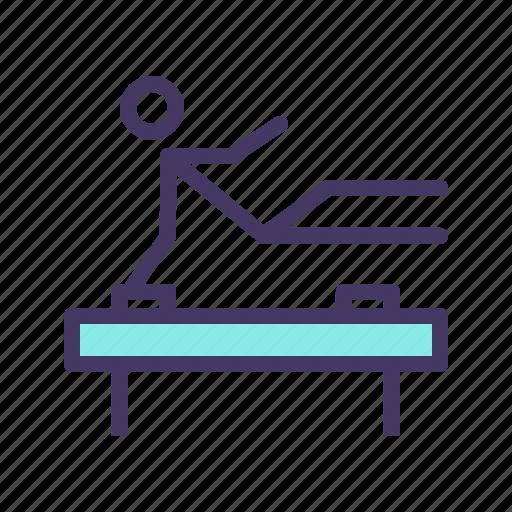 acrobatics, artisitc, fitness, gym, gymnastics, olympics, training icon