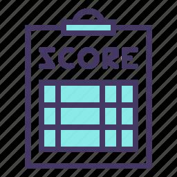 clipboard, notepad, olympics, pad, paper, score, scorecard icon