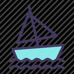 beach, boat, sail, sailing, sports, water, yacht icon