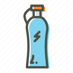 bottle, drink, energy, fitness, refresh, sports, water icon