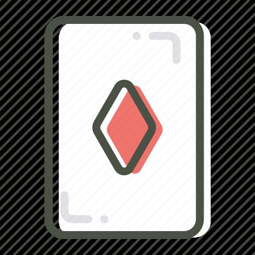 card, casino, diamond, gamble, luck, playing, poker icon