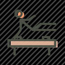 acrobatics, artistic, fitness, gymnastics, olympics, stunt, training icon