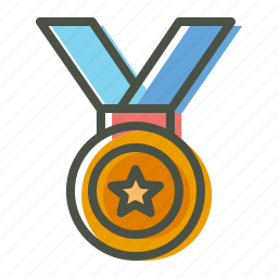 champion, gold, medal, olympics, prize, silver, winner icon