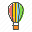 air, balloon, fly, fun, holiday, parachute, travel icon