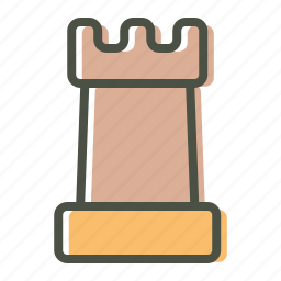 chess, game, leisure, piece, play, rook, strategy icon