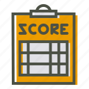 clipboard, coach, notepad, pad, paper, score, scorecard icon
