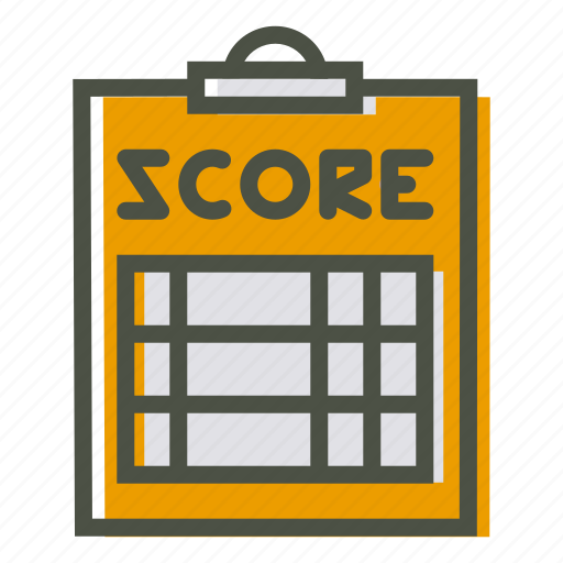 clipboard, coach, notepad, pad, paper, score, scorecard icon