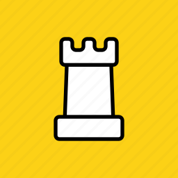 chess, game, piece, play, rank, rook, strategy icon