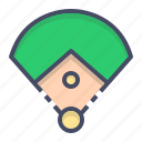baseball, diamond, field, game, play, ring, sports icon