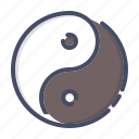 chinese, harmony, philosophy, religion, spirituality, taoism, yinyang icon
