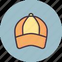 accessory, cap, game, golf, sports, wear icon