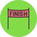 banner, end, finish, line, race, racing icon