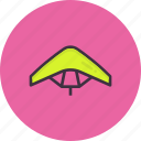 air, diving, glider, gliding, paraglider, paragliding, sky icon
