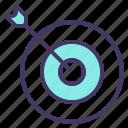 archery, arrow, board, bull, dart, eye, target icon