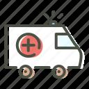 ambulance, care, emergency, health, hospital, medical, medicare icon