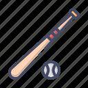 ball, baseball, bat, game, hit, play, sports icon