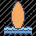 beach, board, fun, sports, surf, surfing, water icon