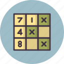game, leisure, logical, math, puzzle, riddle, sudoku icon