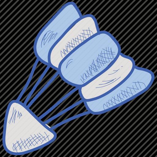 badminton, shuttlecock, sports icon
